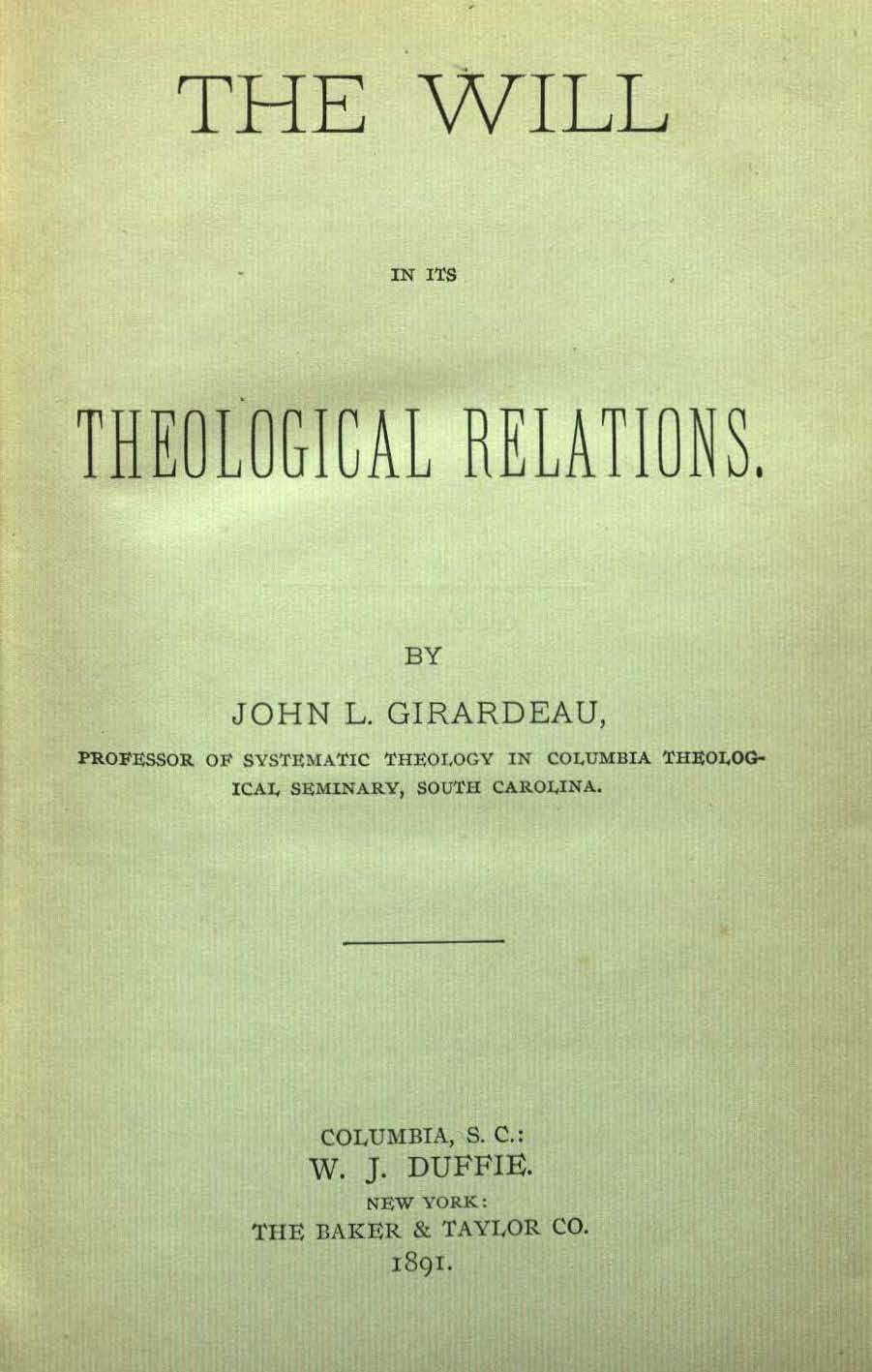 Girardeau - Will in its Theological Relations.jpg