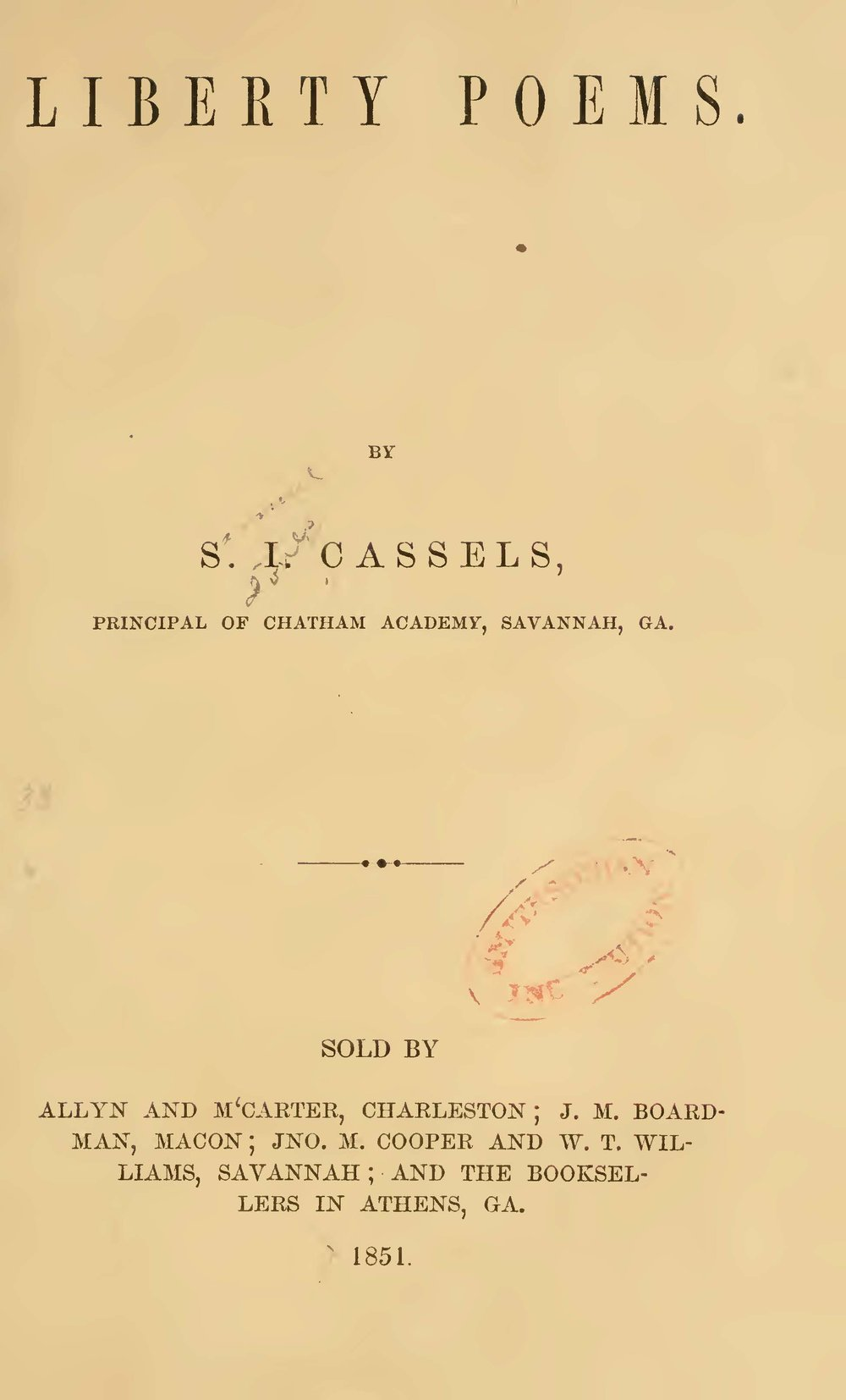 Cassells, Samuel J., Liberty Poems Title Page.jpg