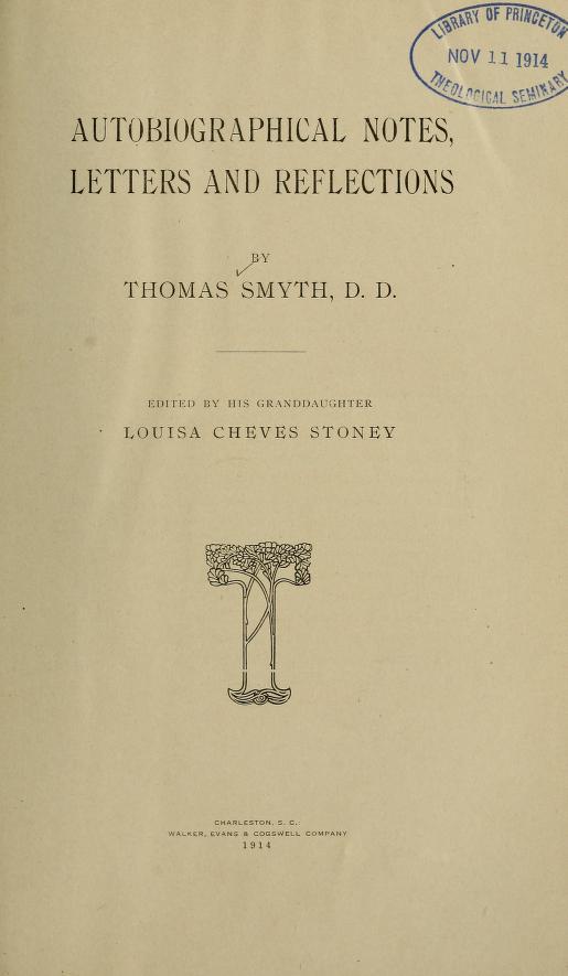 Smyth, Autobiographical Notes.jpg
