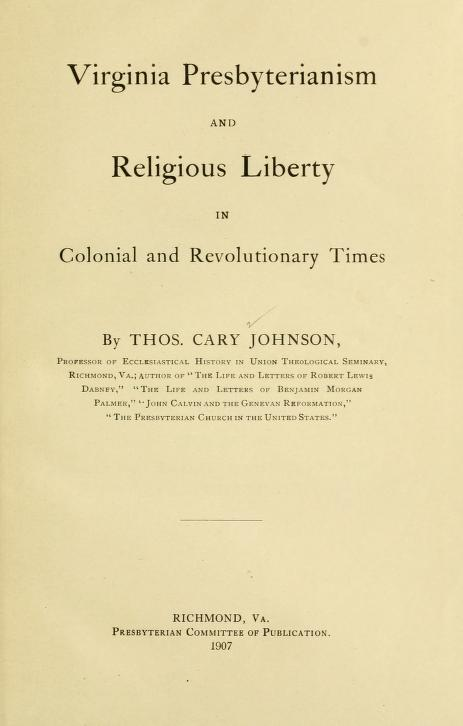 Johnson - Virginia Presbyterianism and Religious Liberty.jpg