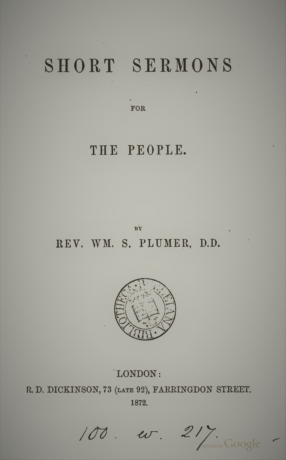 Plumer, Short Sermons for the People.jpg