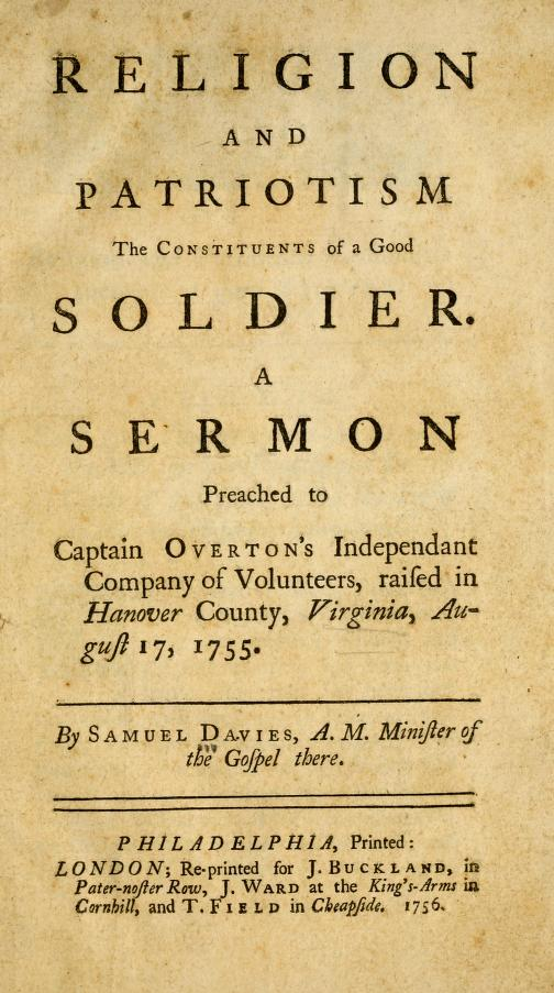 Davies, Samuel - Religion and Patriotism.jpg