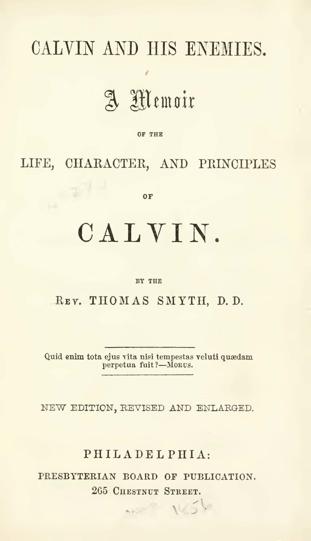 Smyth, Thomas, Calvin and His Enemies Title Page.jpg