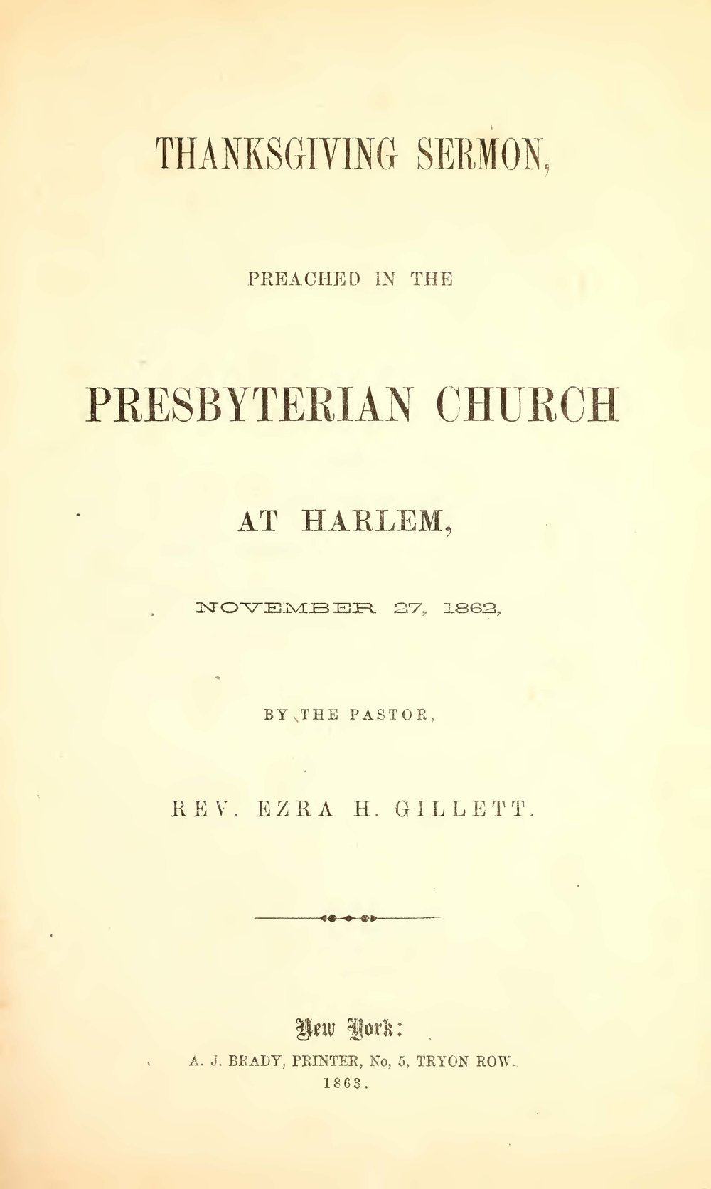 Gillett, Ezra Hall, Thanksgiving Sermon Title Page.jpg