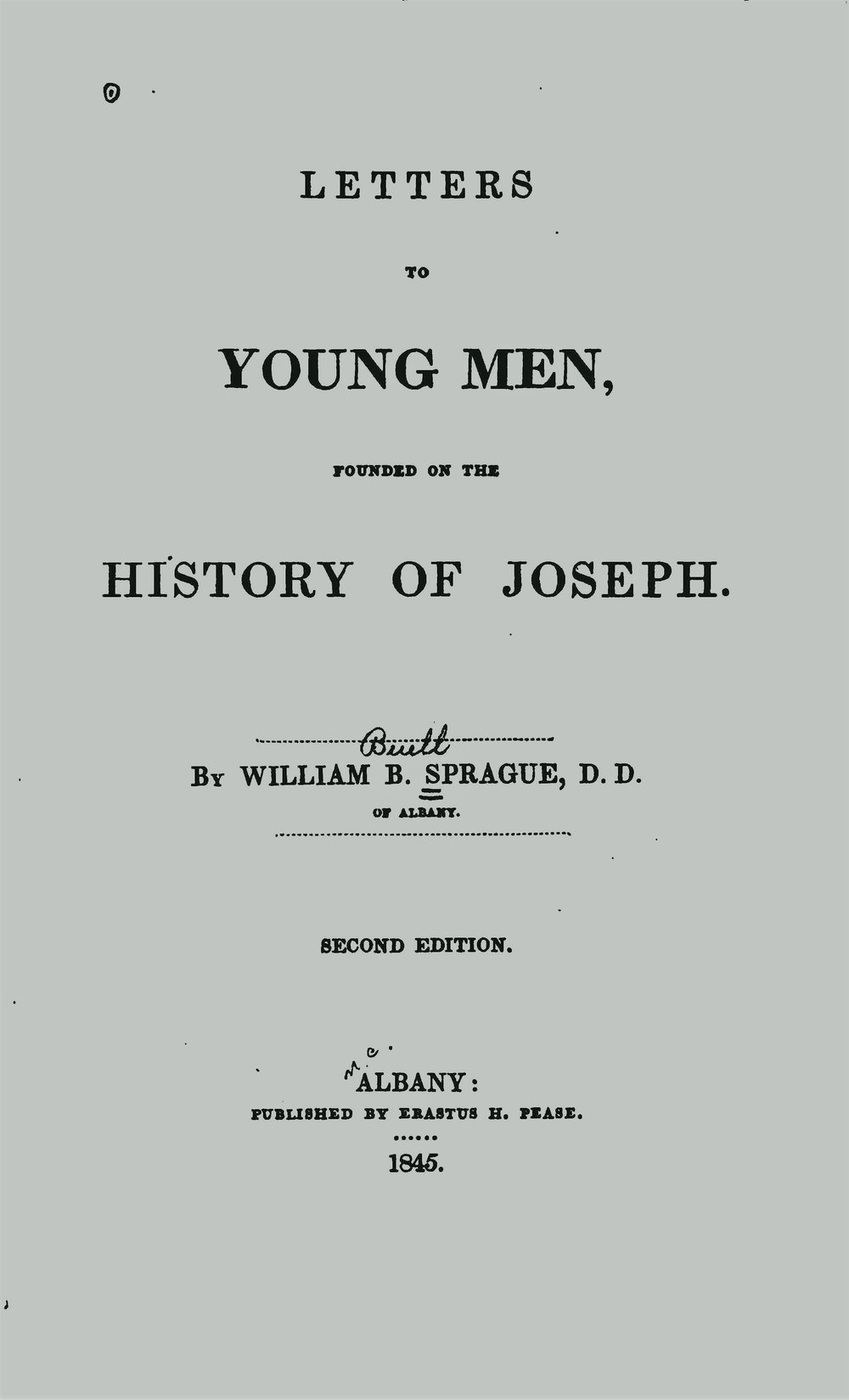 Sprague, William Buell, Letters to Young Men Title Page.jpg