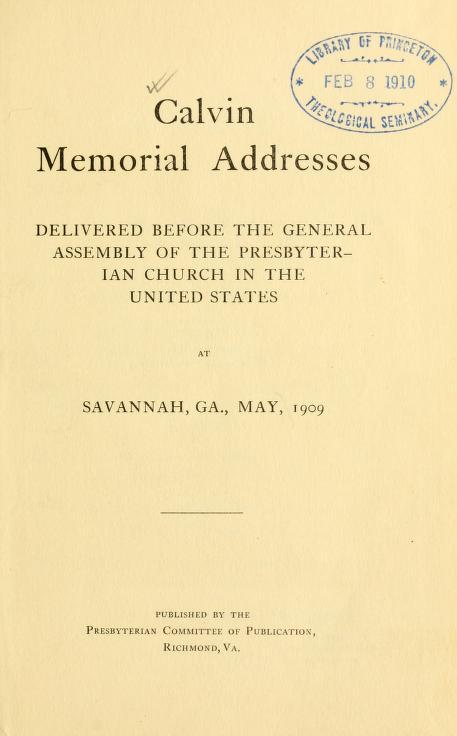 Calvin Memorial Addresses.jpg