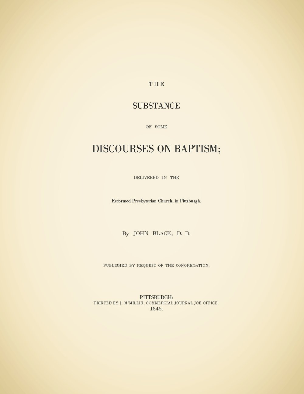 Black, John, The Substance of Some Discourses of Baptism Title Page.jpg