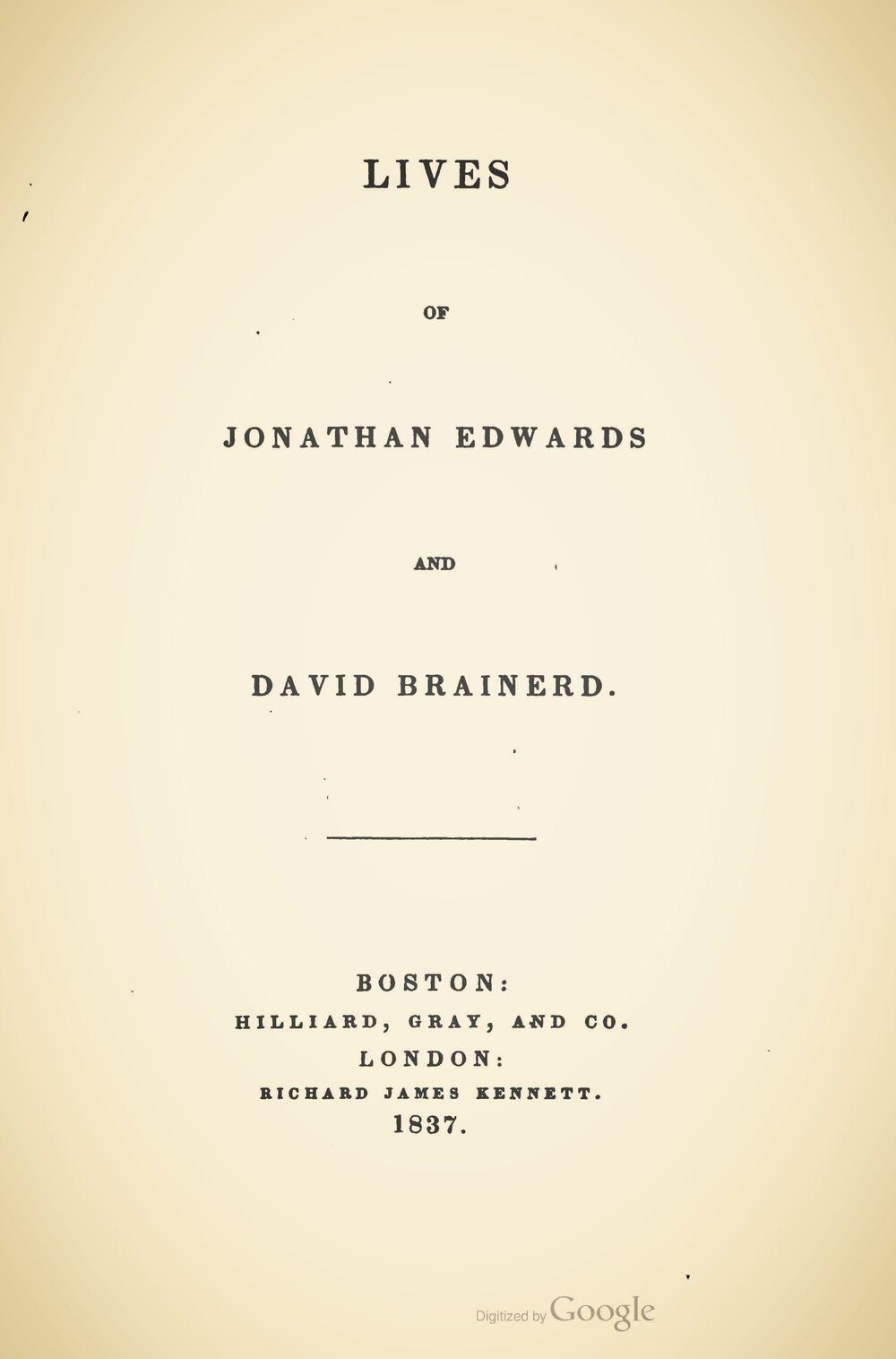 Miller, Samuel, Lives of Jonathan Edwards and David Brainerd Title Page.jpg