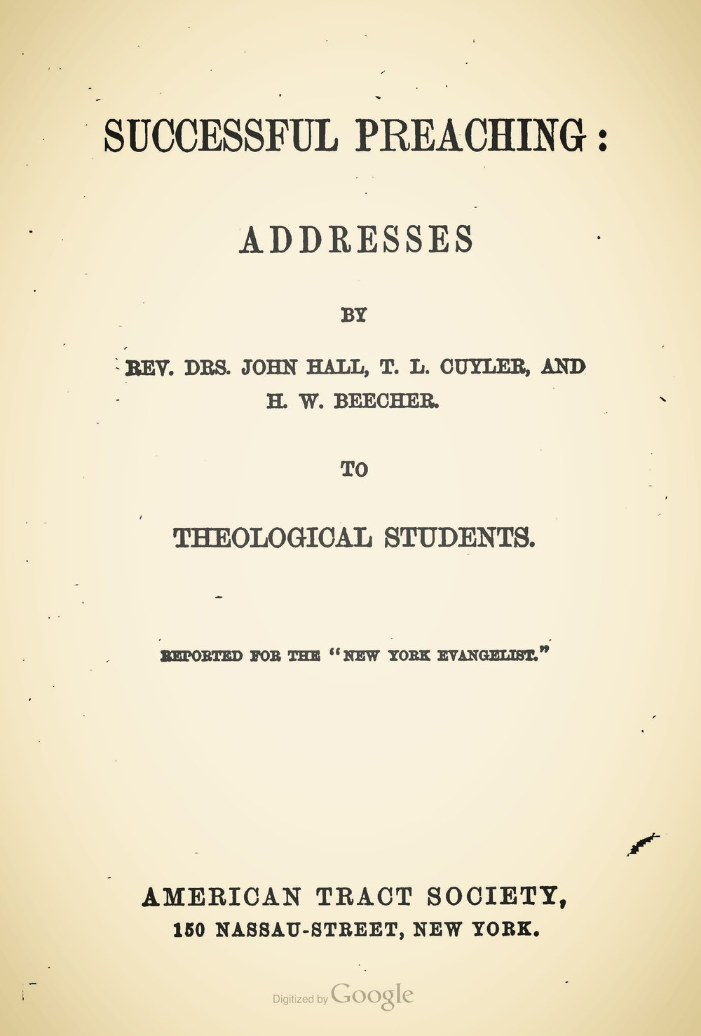 Hall, John, Successful Preaching Title Page.jpg