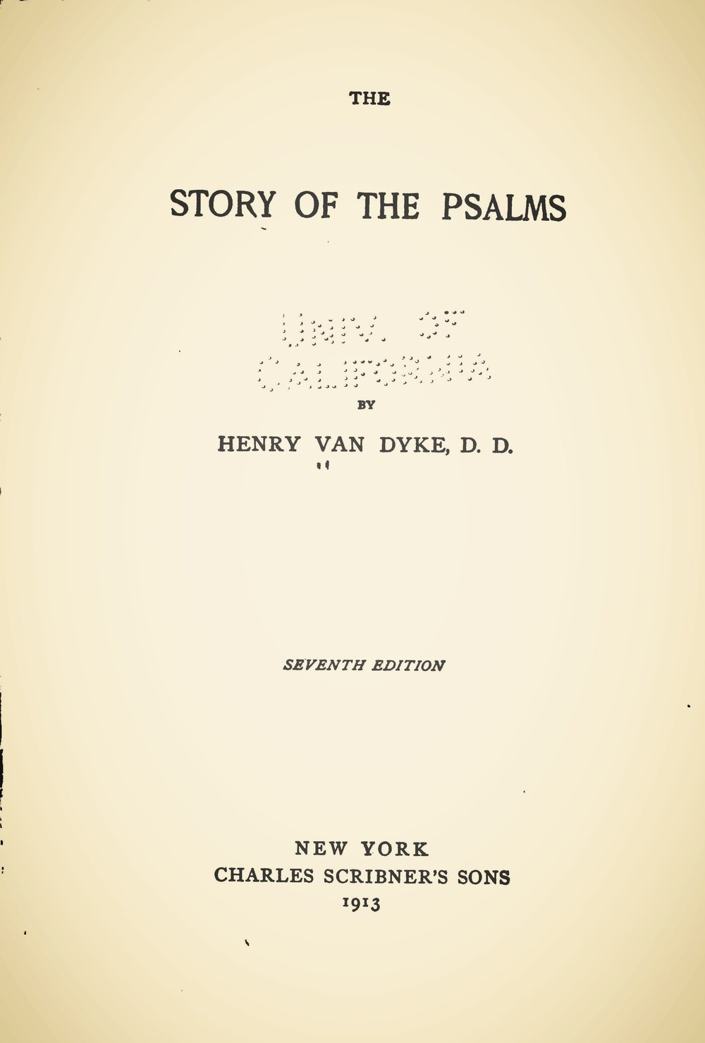 Van Dyke, Jr., Henry, The Story of the Psalms Title Page.jpg