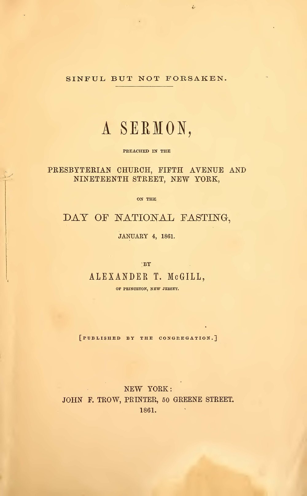 McGill, Alexander Taggart, Sinful But Not Forsaken Title Page.jpg