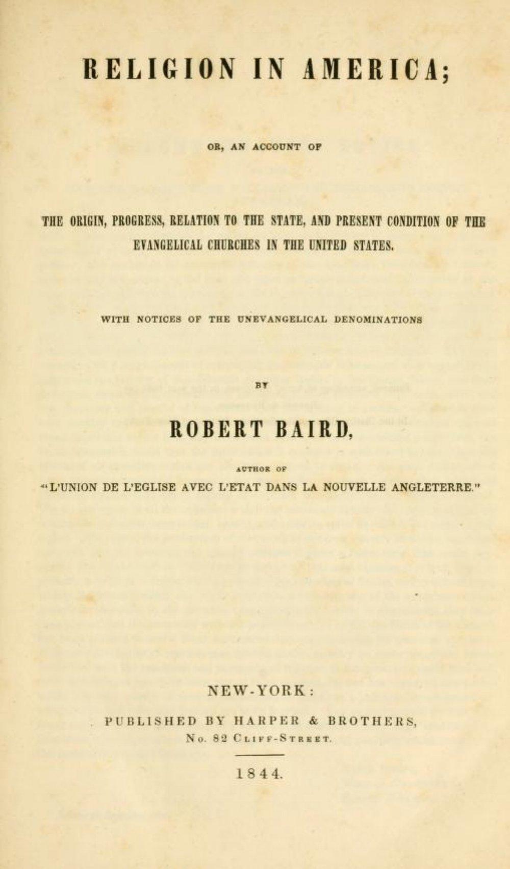 Baird, Robert - Religion in America.jpg