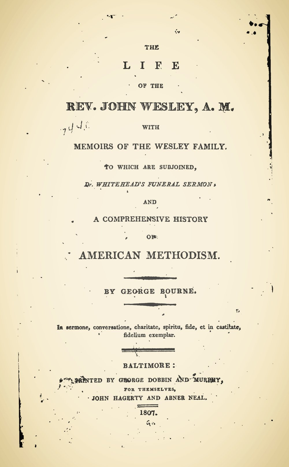 Bourne, George, The Life of the Rev. John Wesley, A.M. Title Page.jpg