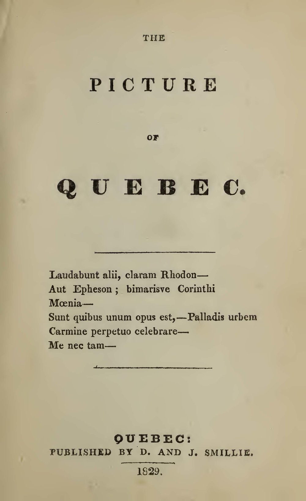 Bourne, George, The Picture of Quebec Title Page.jpg
