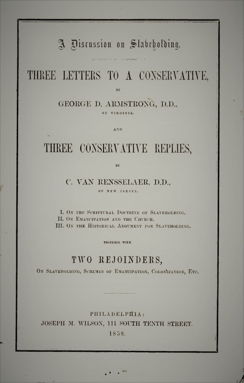Armstrong, George D, and Courtland Van Rensselaer  - On Slavery.jpg