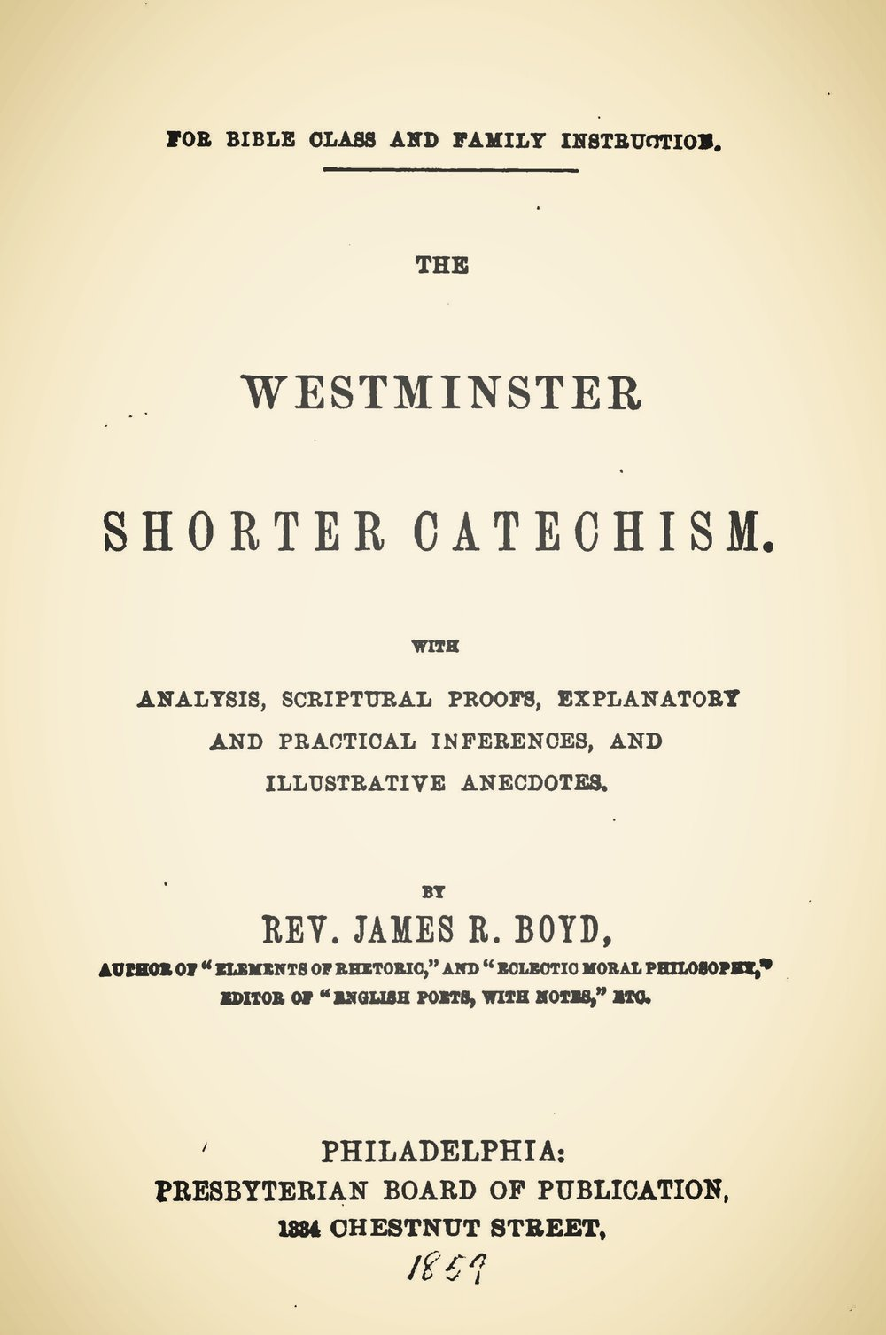 Boyd, James Robert, The Westminster Shorter Catechism Title Page.jpg