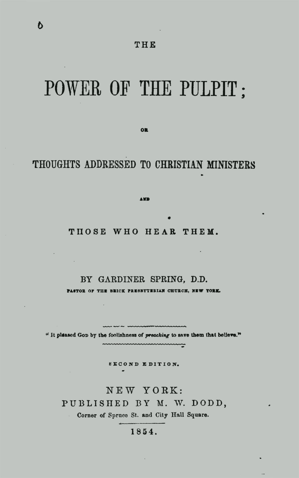 Spring, Gardiner, The Power of the Pulpit Title Page.jpg
