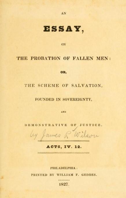 Wilson, Essay on Probation of Fallen Man.jpg