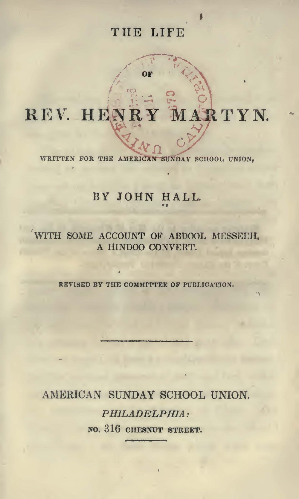 Hall, John, The Life of Rev. Henry Martyn Title Page.jpg
