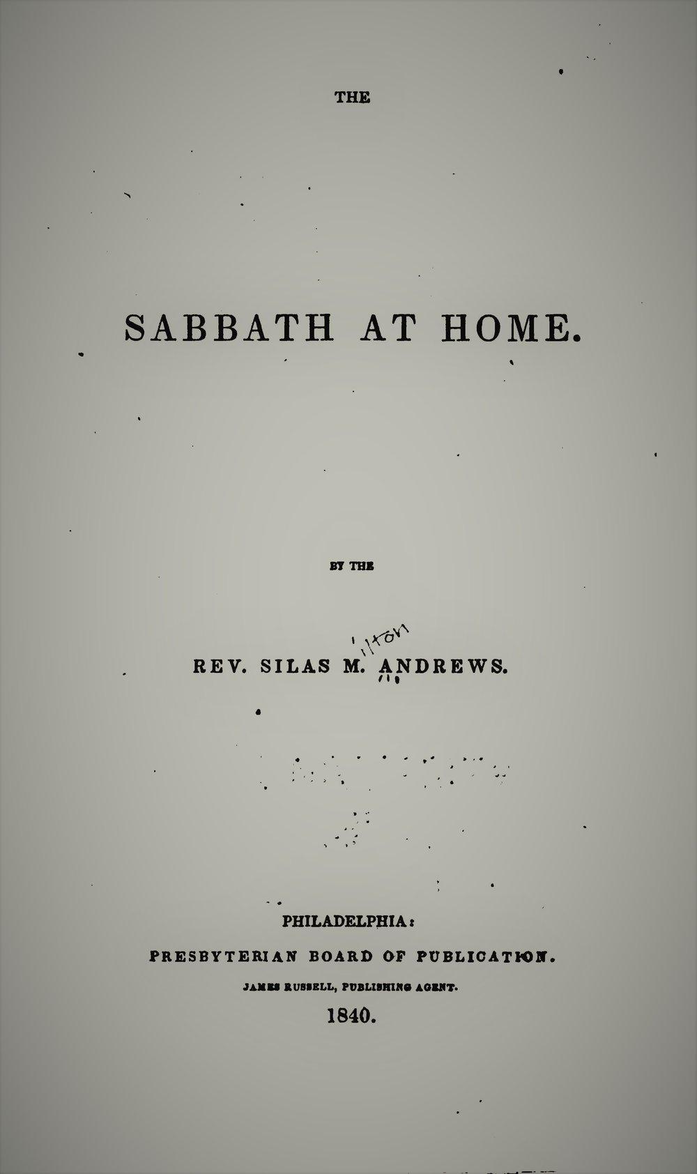Andrews, Silas - Sabbath at Home.jpg