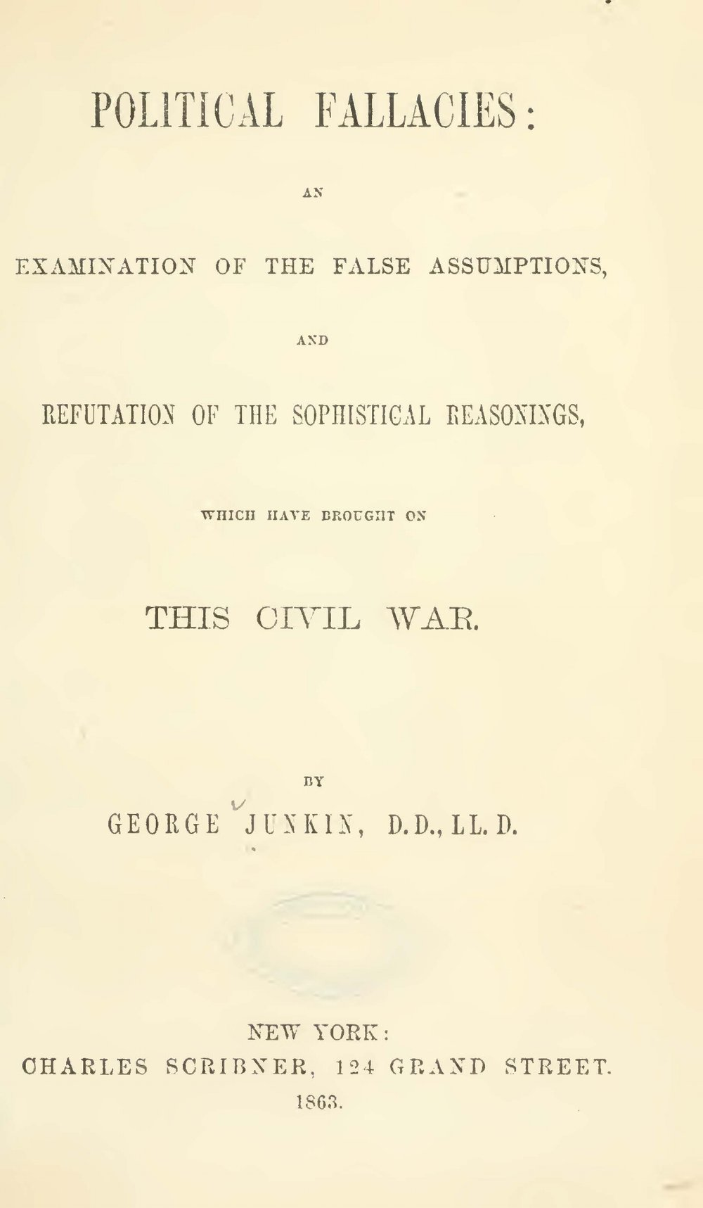 Junkin, George, Political Fallacies Title Page.jpg