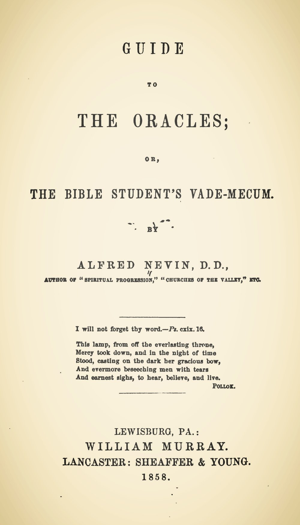 Nevin, Alfred, Guide to the Oracles Title Page.jpg