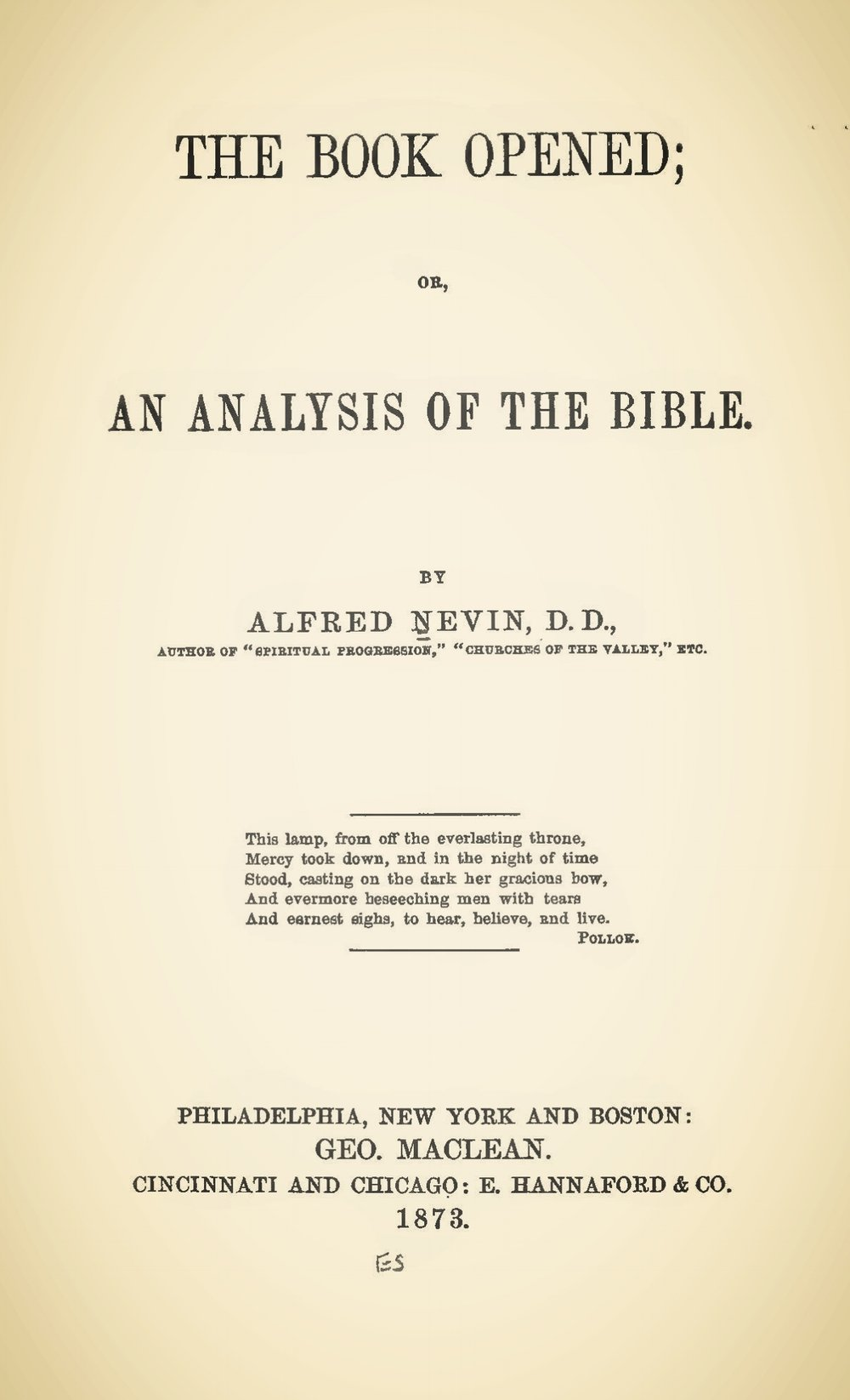 Nevin, Alfred, The Book Opened; or, An Analysis of the Bible Title Page.jpg