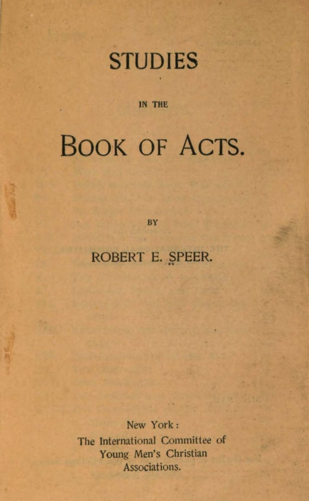 Speer, Robert Elliott, Studies in the Book of Acts Title Page.jpg