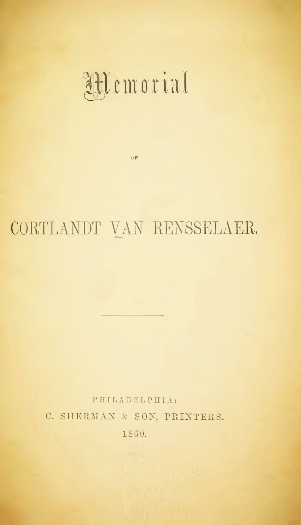 Hodge, Charles, Memorial of Cortlandt Van Rensselaer Title Page.jpg