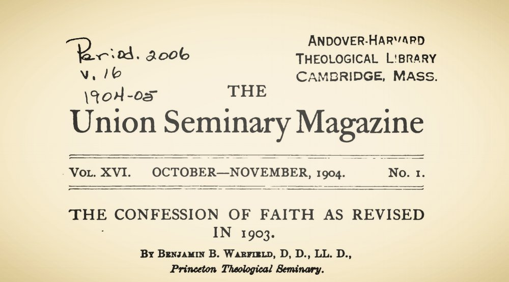 Warfield, Benjamin Breckinridge, The Confession of Faith as Revised in 1903 Title Page.jpg