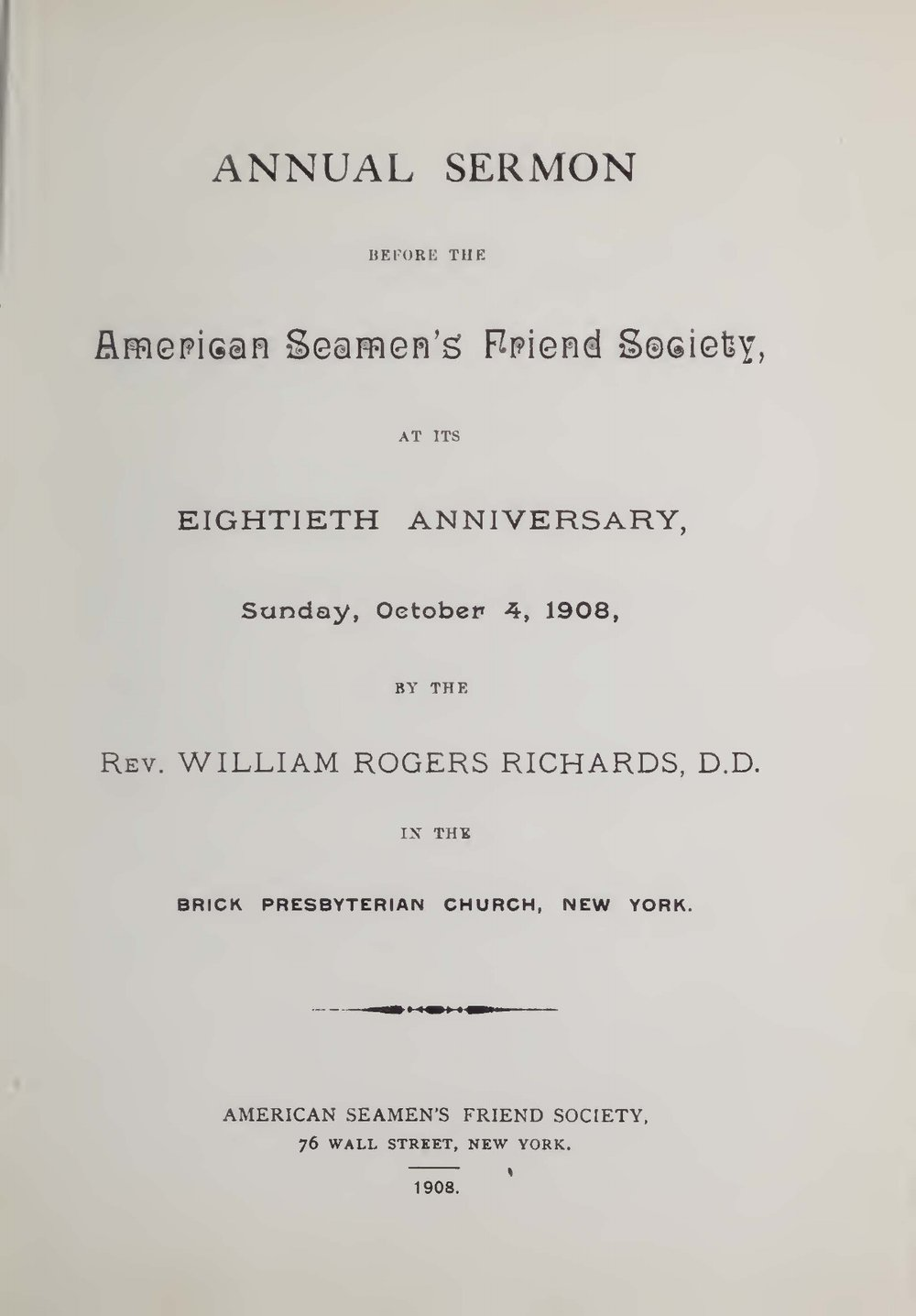 Richards, William Rogers, The Ship and the Life Title Page.jpg