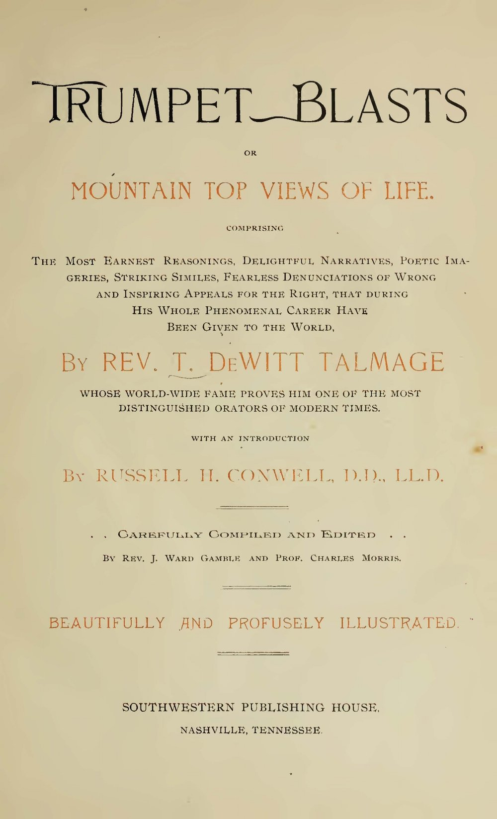 Talmage, Thomas De Witt, Trumpet Blasts Title Page.jpg