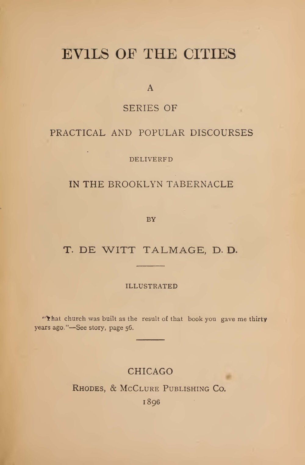 Talmage, Thomas De Witt, Evils of the Cities Title Page.jpg
