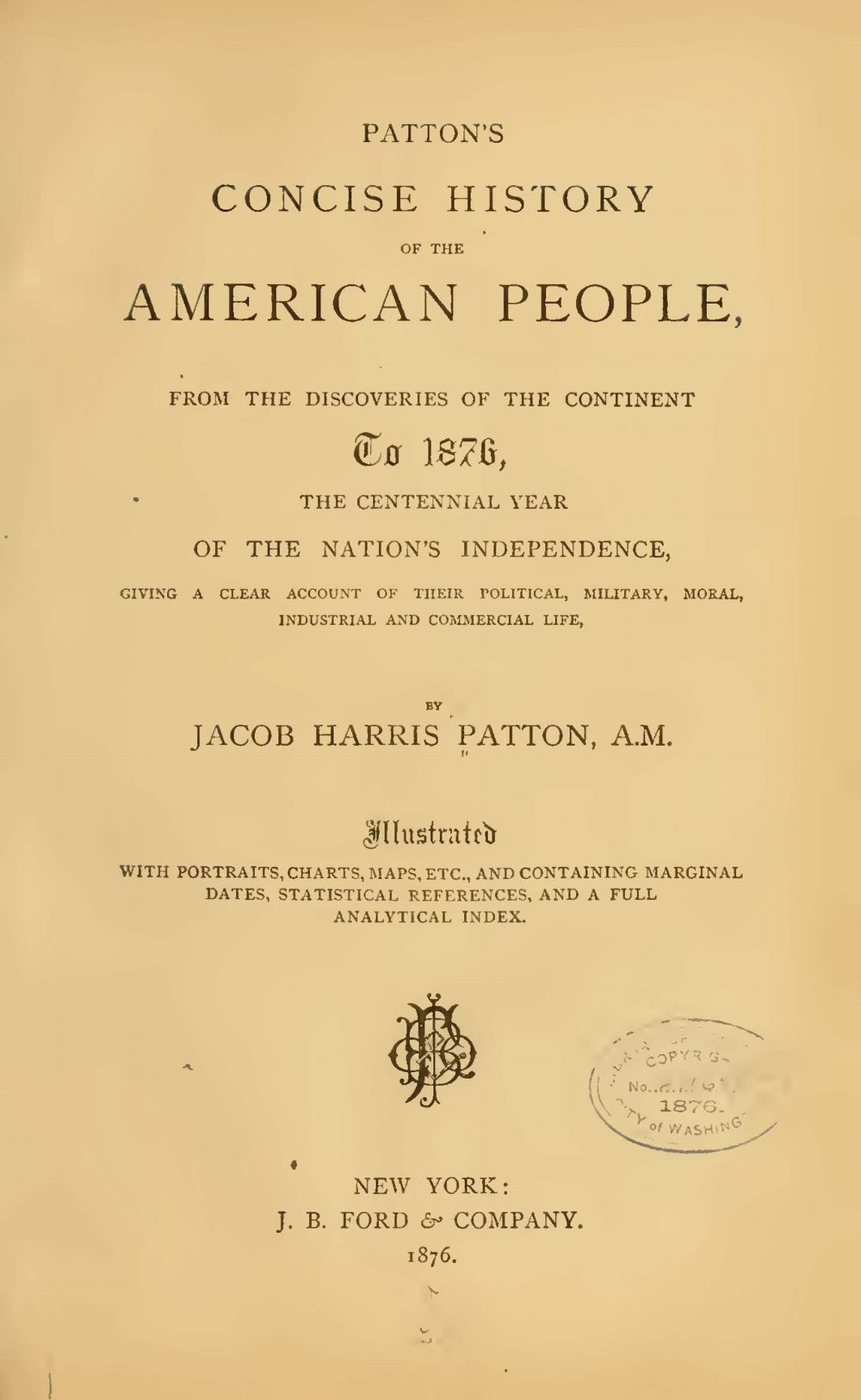 Patton, Jacob Harris, Concise History of the American People Title Page.jpg