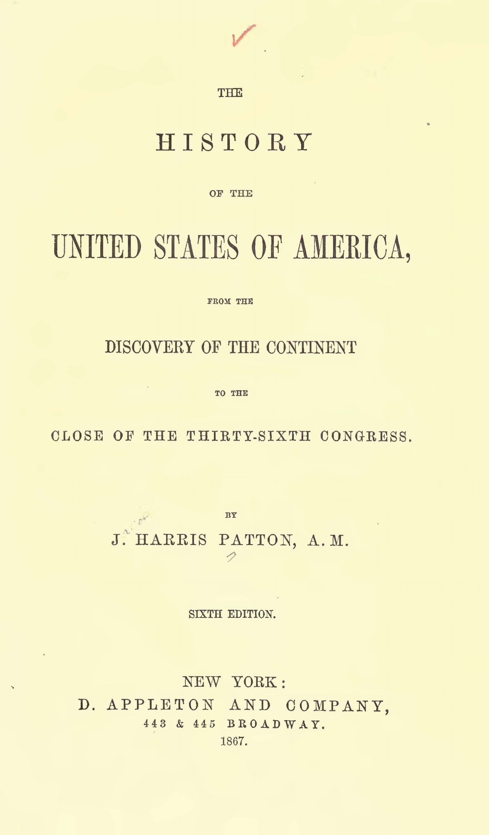 Patton, Jacob Harris, The History of the United States of America Title Page.jpg
