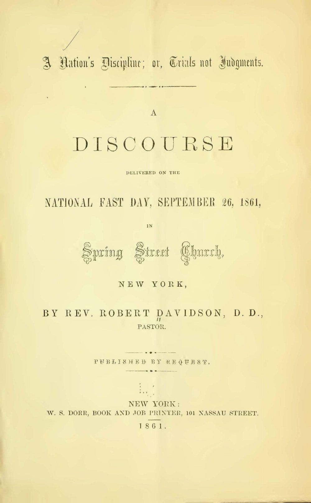 Davidson, Robert, A Nation's Discipline Title Page.jpg