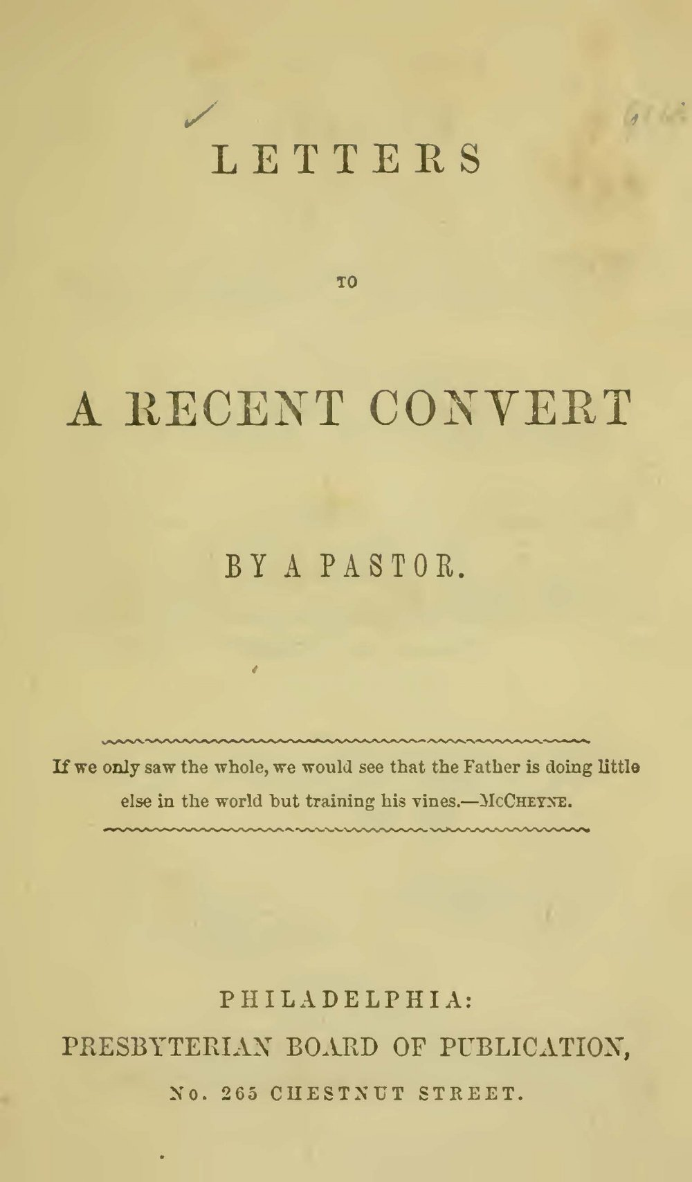 Davidson, Robert, Letters to a Recent Convert Title Page.jpg
