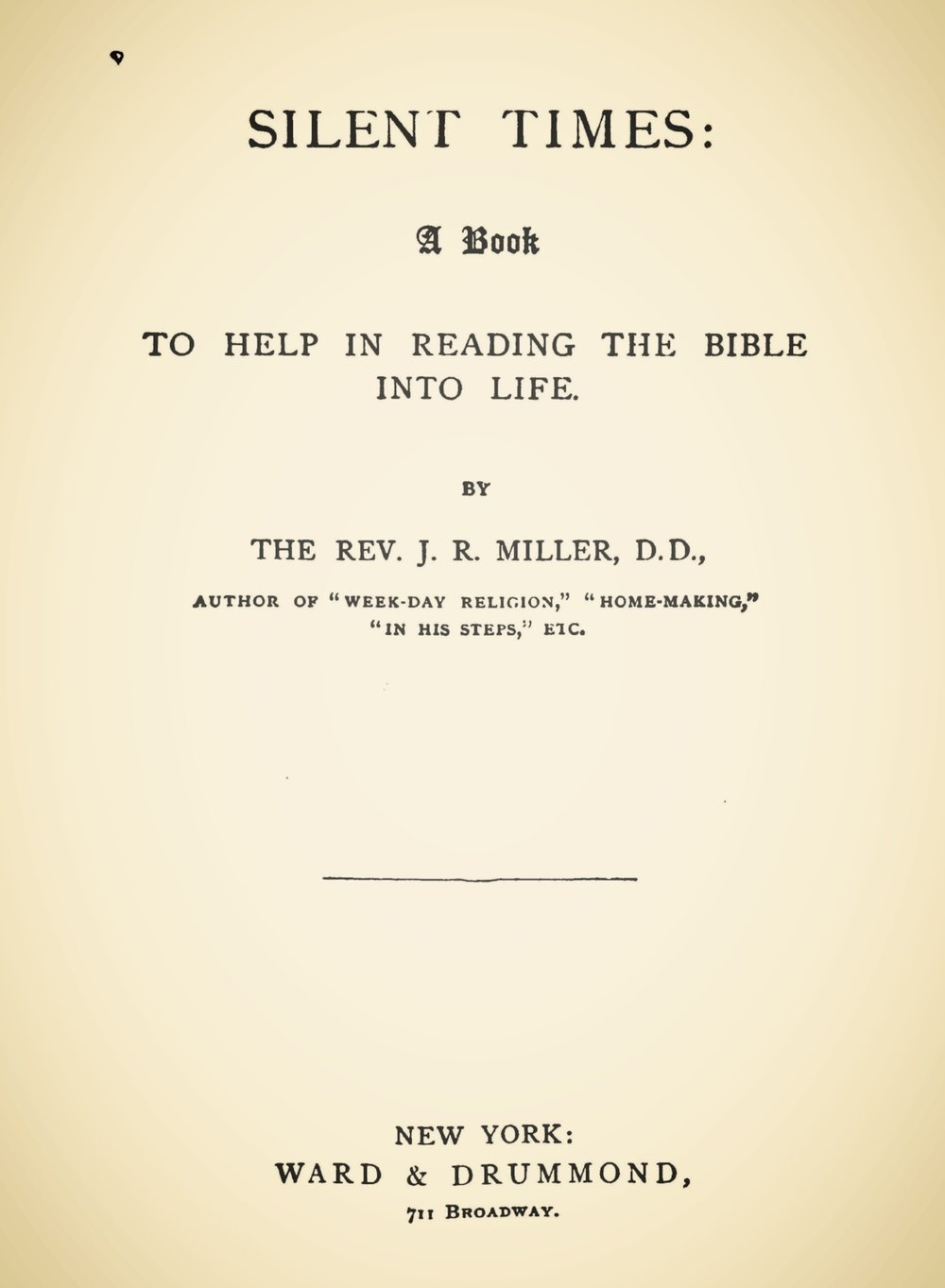Miller, James Russell, Silent Times Title Page.jpg