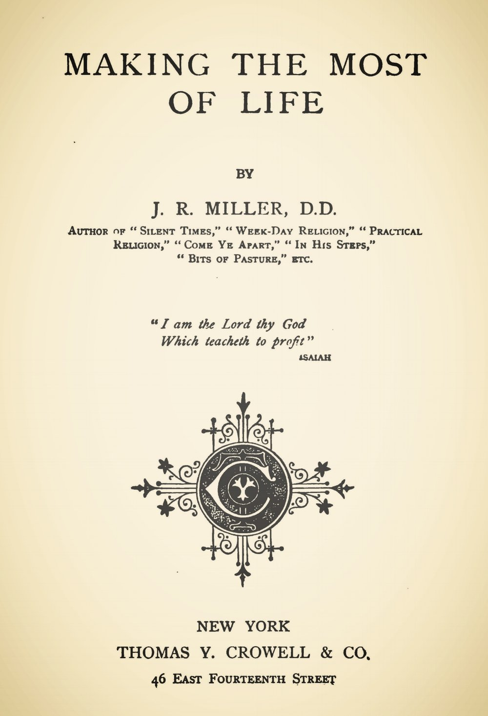 Miller, James Russell, Making the Most of Life Title Page.jpg
