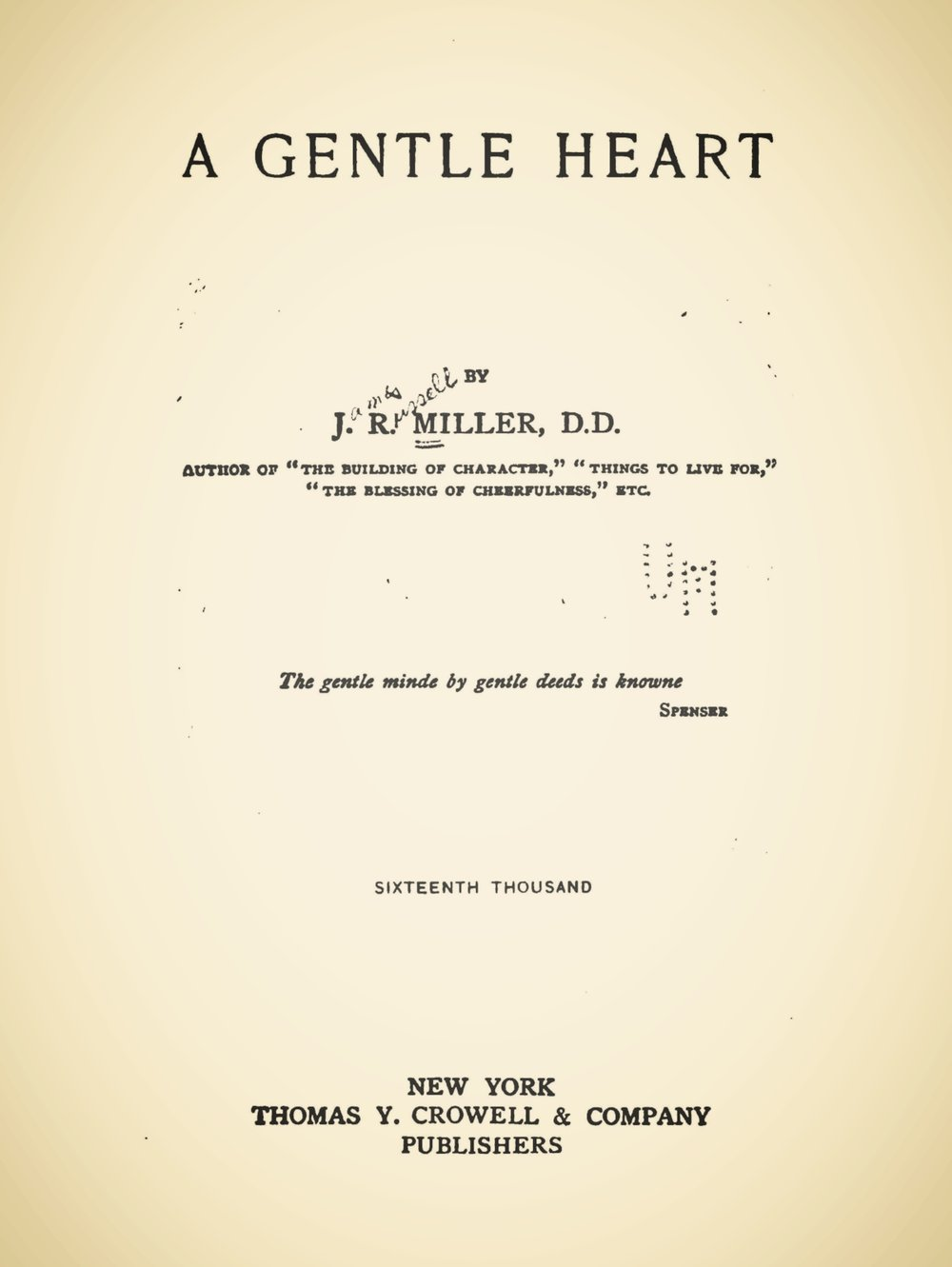 Miller, James Russell, A Gentle Heart Title Page.jpg