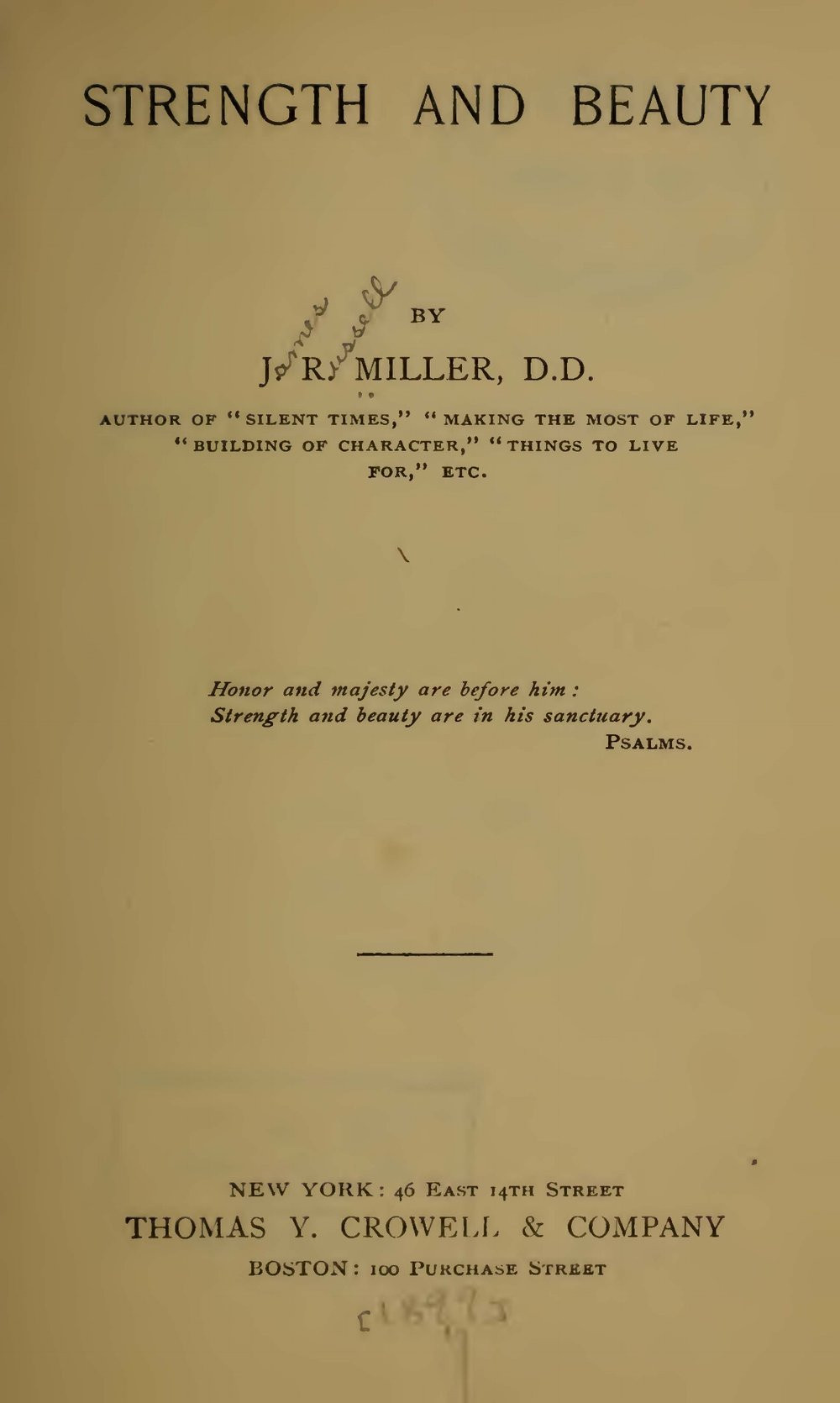 Miller, James Russell, Strength and Beauty Title Page.jpg