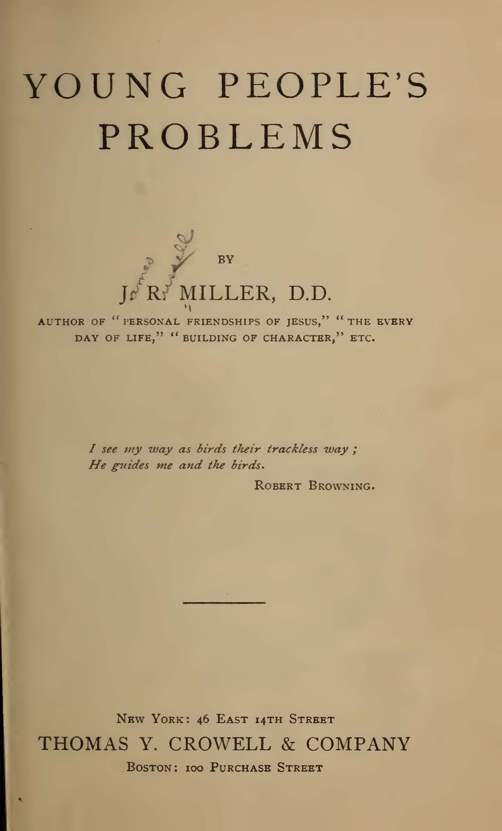 Miller, James Russell, Young People's Problems Title Page.jpg