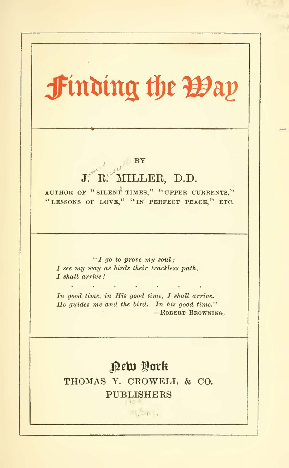 Miller, James Russell, Finding the Way Title Page.jpg