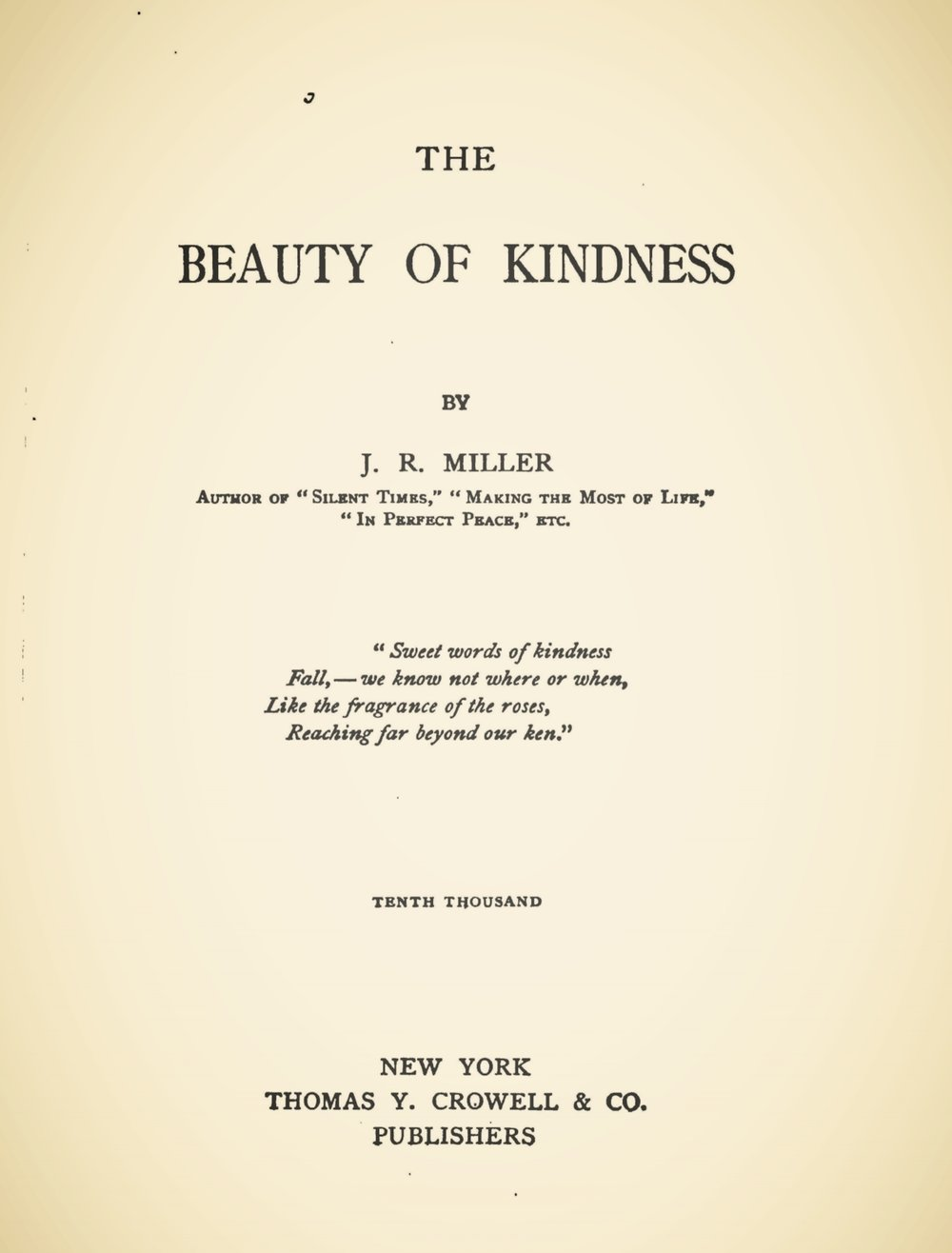 Miller, James Russell, The Beauty of Kindness Title Page.jpg