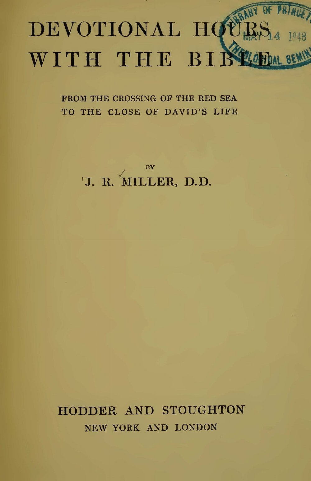Miller, James Russell, Devotional Hours With the Bible, Vol. 2 Title Page.jpg