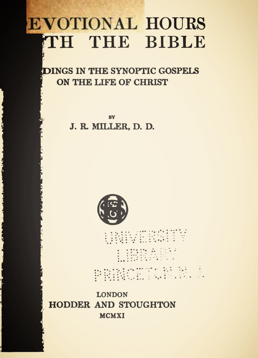 Miller, James Russell, Devotional Hours With the Bible, Vol. 5 Title Page.jpg