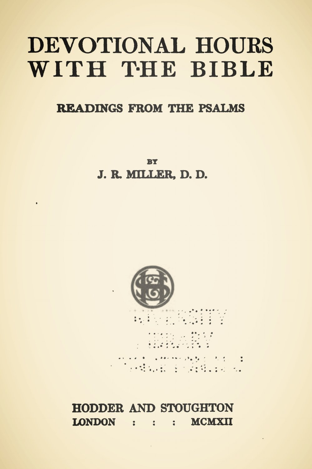 Miller, James Russell, Devotional Hours With the Bible, Vol. 6 Title Page.jpg
