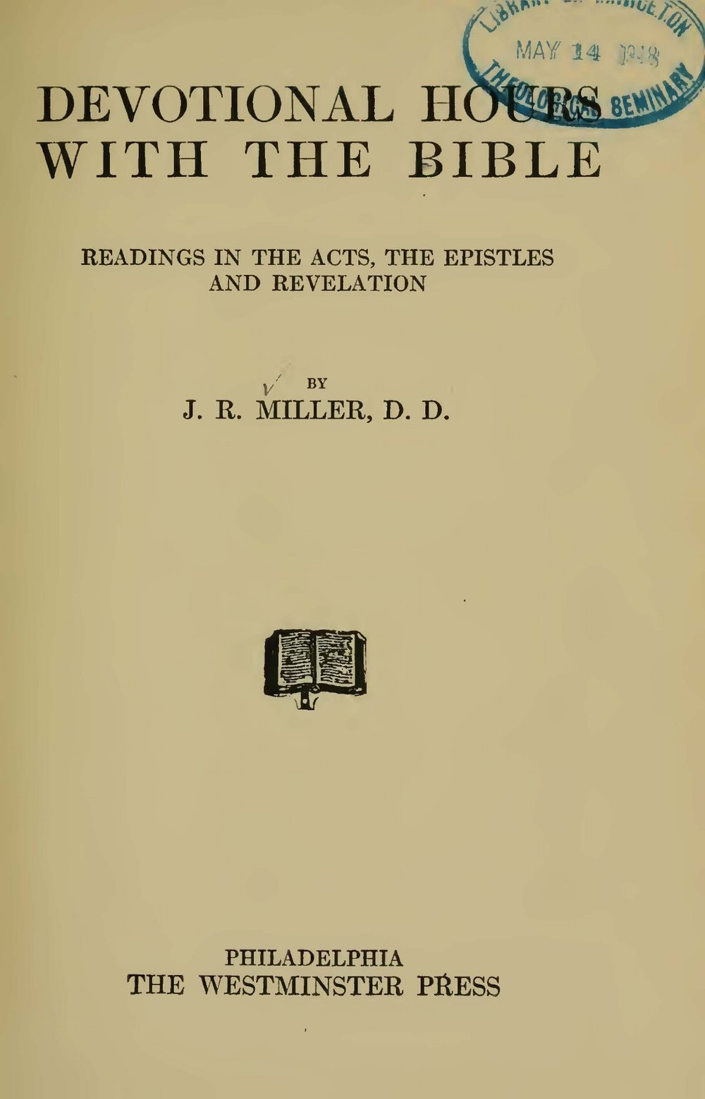 Miller, James Russell, Devotional Hours With the Bible, Vol. 8 Title Page.jpg