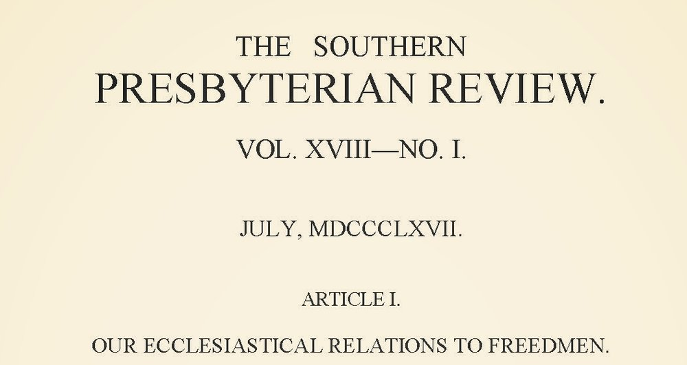 Girardeau, John Lafayette, Our Ecclesiastical Relations to Freedmen Title Page.jpg