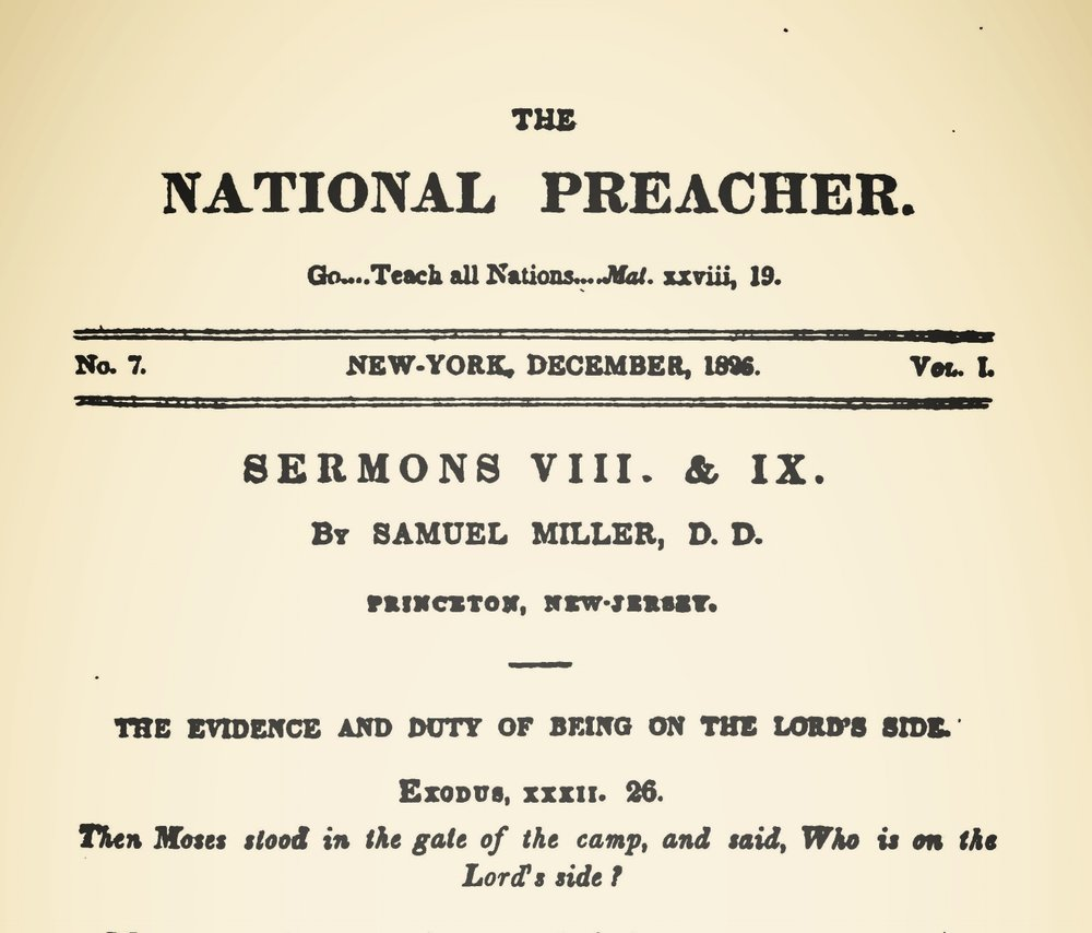 Miller, Samuel, The Evidence and Duty of Being on the Lord's Side Title Page.jpg